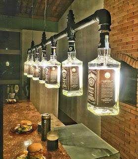 botella lámpara