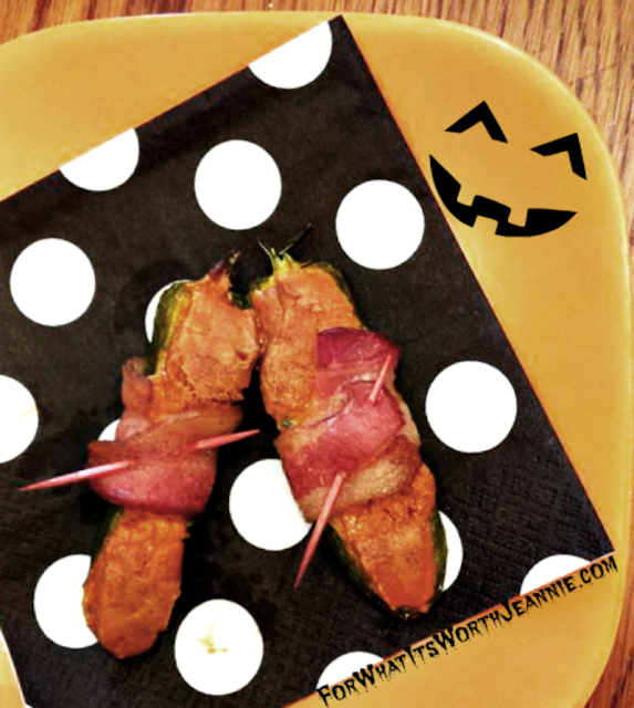 Pumpkin Spiced Stuffed and Bacon Wrapped Jalepeno by ForWhatItsWorthJeannie