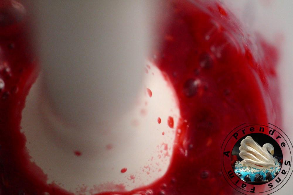 Entremet Carré Frais à la vanille Bourbon et framboises à la verveine (pas à pas en photos)