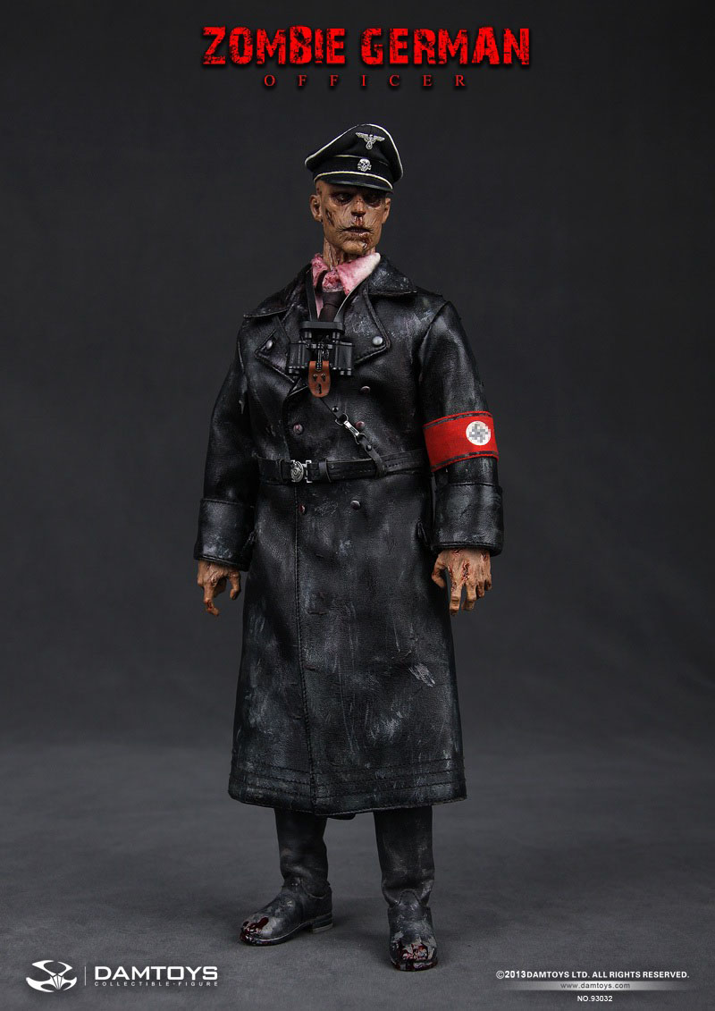 Zombie Alert Dam Toys 1 6 Scale Zombie German Ss Officer