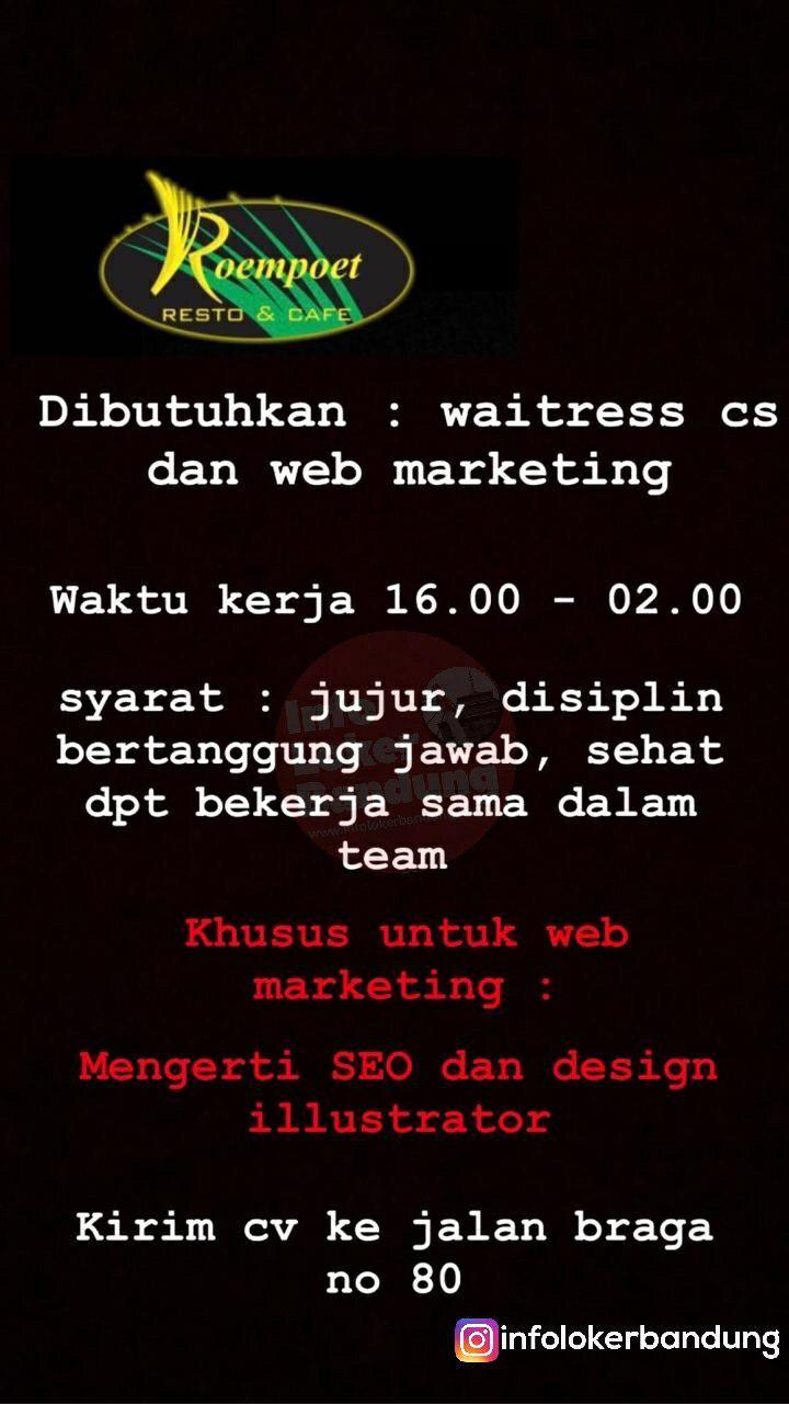 Lowongan Kerja Roempoet Cafe & Resto Bandung Februari 2019