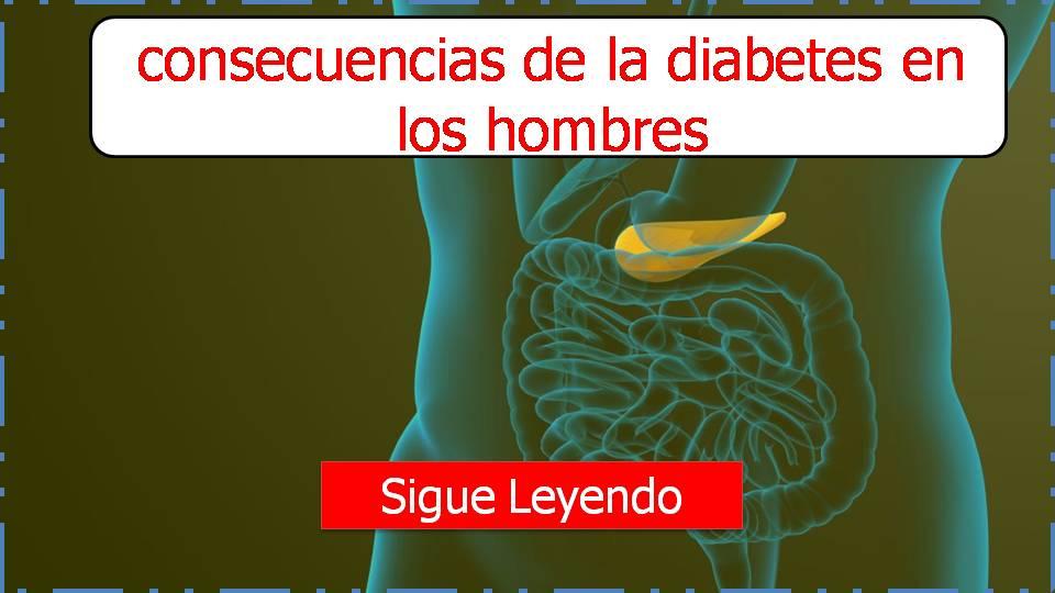 consecuencias de la diabetes en los hombres
