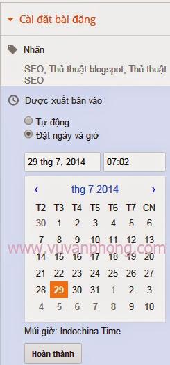Blogger thay đổi tháng năm của URL bài viết nếu bạn cập nhật