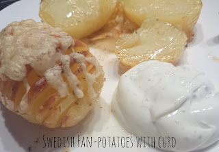Recipe Swedish Fan-potatoes with curd