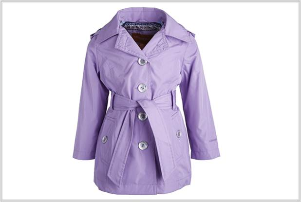 Sydney Fashion Hunter - Perfectly Purple - Girls London Fog Trenc
