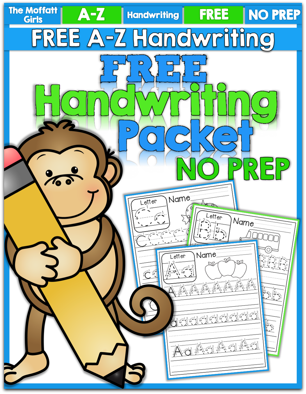 Freebielicious Free A Z Handwriting Sheets