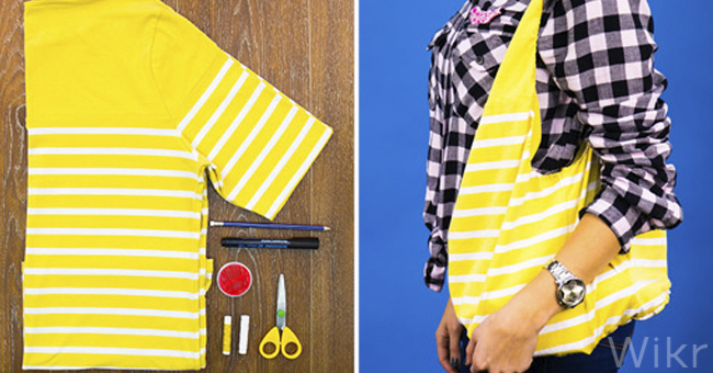 How To Sew A Bag From An Old T Shirt Diy Tutorial Ideas