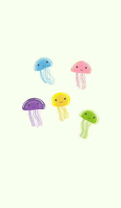 Smiling cute jellyfish