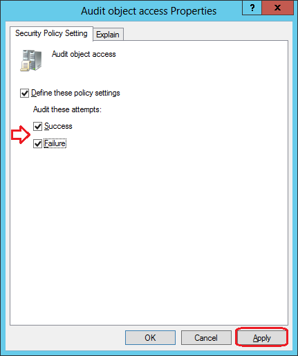 How to Enable File System Access Audit Event IDs