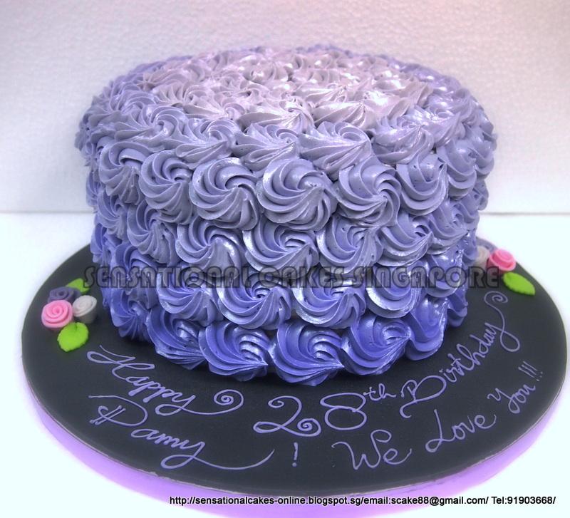 The Sensational Cakes Ombre Purple Rainbow Cake Singapore