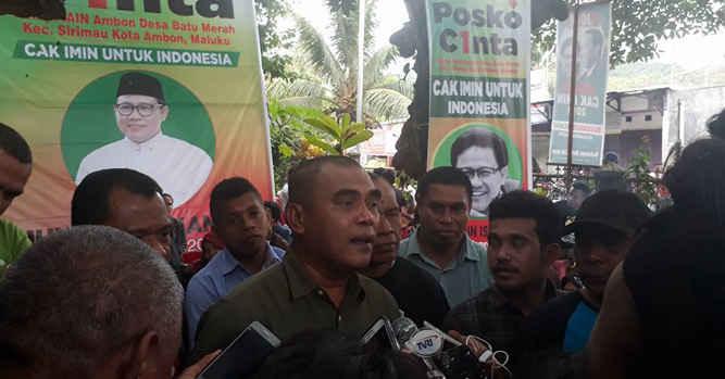 Ketua Dewan Pimpinan Wilayah (DPW) Partai Kebangkitan Bangsa (PKB) Maluku, Basri Damis, di Ambon, Minggu (294), meresmikan Posko Cak Imin untuk Indonesia (CINTA) untuk Wapres 2019.