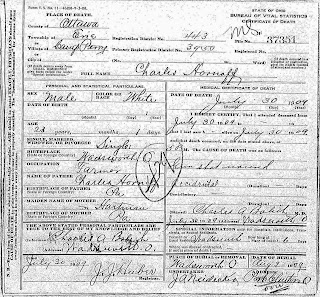 Charles Hornoff death certificate