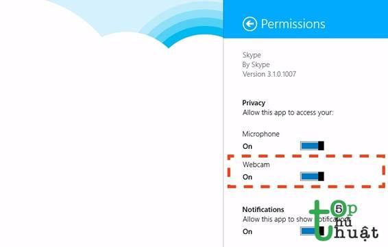 Lỗi không dùng được webcam trong Skype Modern và cách khắc phục