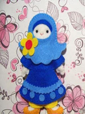 Cara Membuat Boneka Orang Muslim Dari Kain Flanel Andriekriss