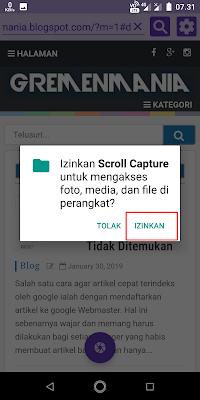 Jika muncul perizinan, Sobat klik izinkan.