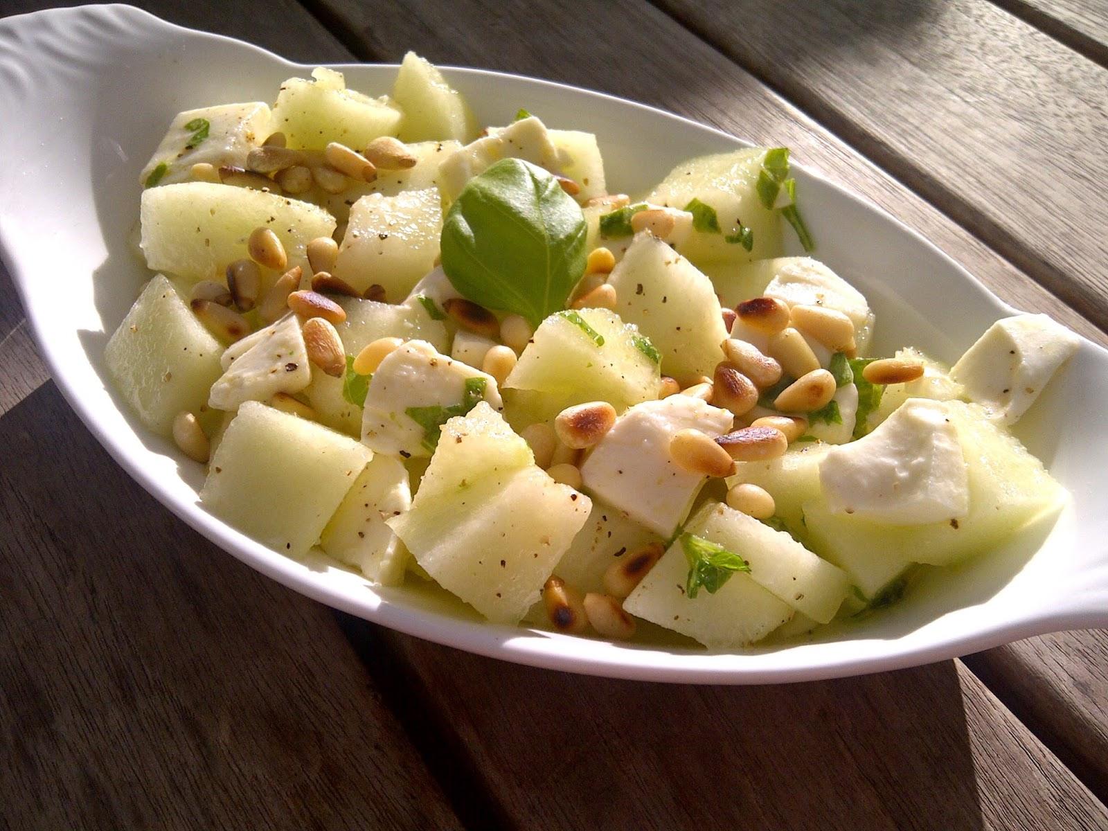 salade meloen mozzarella