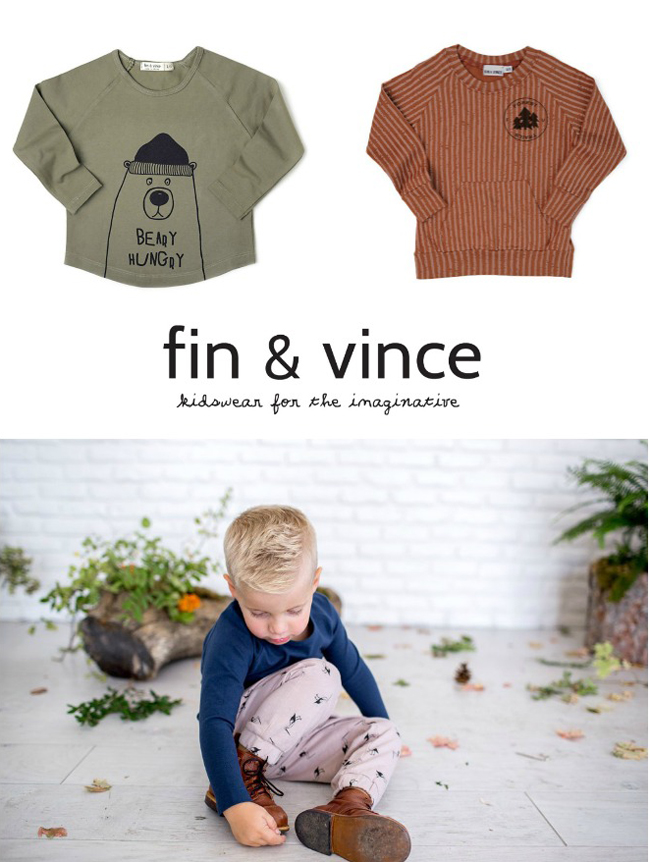 Fin & Vince AW16 kids fashion collection - kidswear for the imaginative
