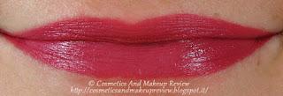 Labbra: sopra matita 38+rossetto 04, sotto solo rossetto 04