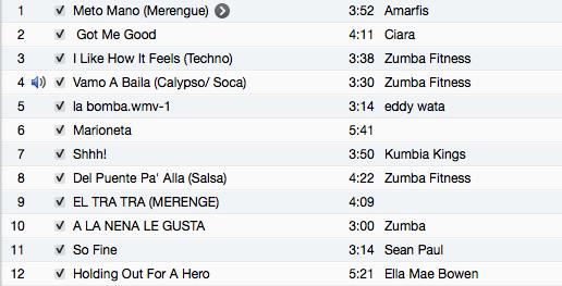 Zumba Songs 7/1/13 | BGSU Zumba Class
