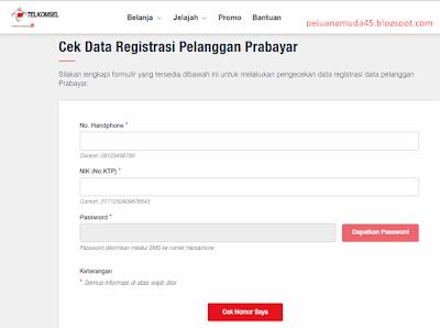 Cara Cek Status Registrasi Nomor TELKOMSEL