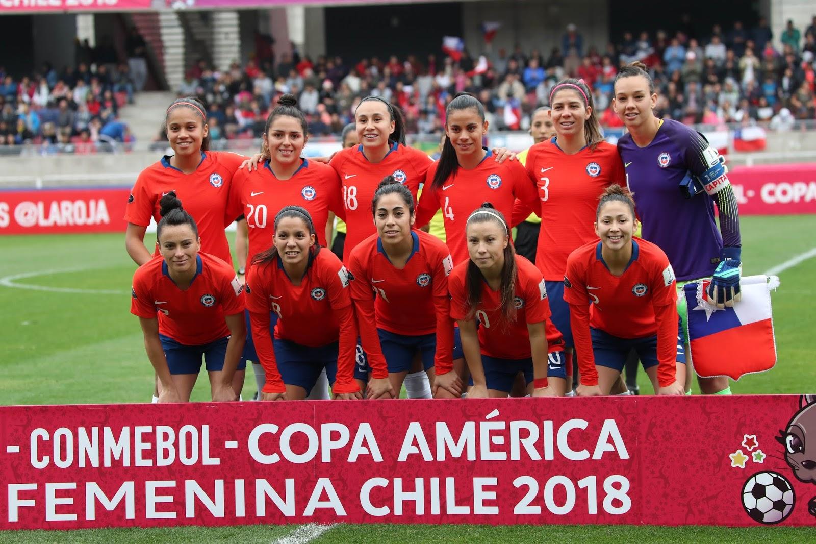 Formación de selección de Chile ante Argentina, Copa América Femenina 2018, 22 de abril