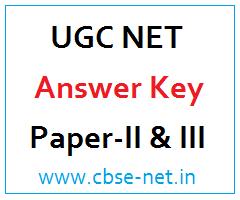 image : UGC NET Answer Key - Paper-II & III @ cbse-net.in