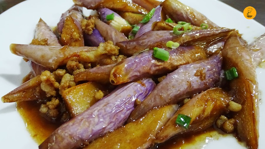Berenjena yu xiang en Chan Shui Yao, restaurantes chinatown Madrid, restaurantes chinos Usera