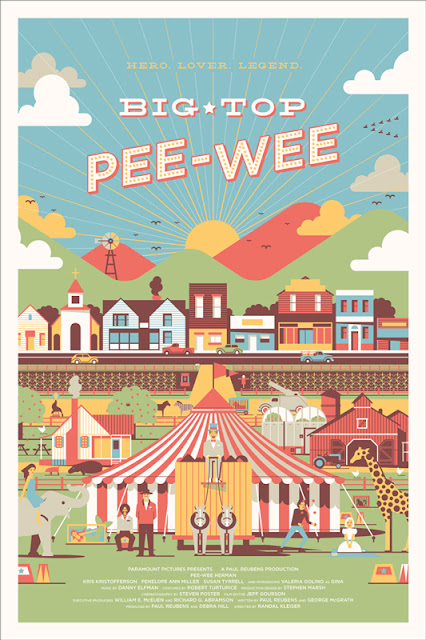 Big Top Pee-wee Screen Print by DKNG