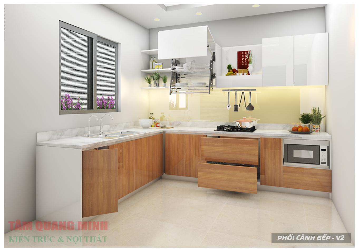 Cách phân chia khu vực cho tủ bếp