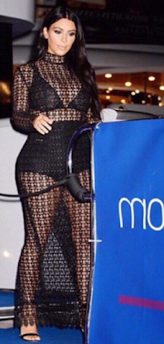 Pregnant Kim K also steps out in see-through outfit