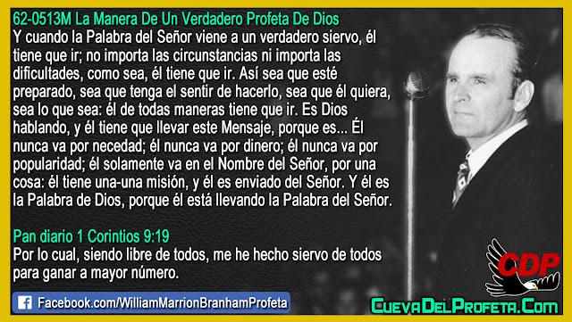 El es la Palabra de Dios El es enviado del Señor - Citas William Branham Mensajes