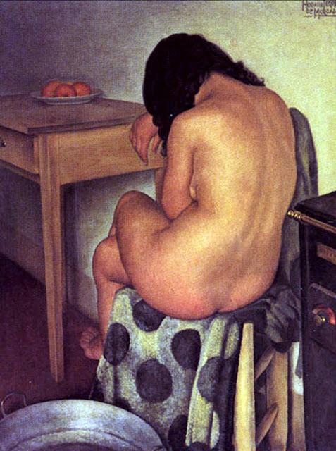Horacio Ferrer de Morgado, Artistic Nude, Portrait arts, Horacio Ferrer, Nude Art, Human Study, Nude by Painter Horacio Ferrer