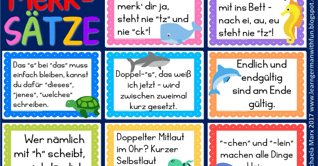 Kostenlose Deutsch Arbeitsblätter für die Grundschule