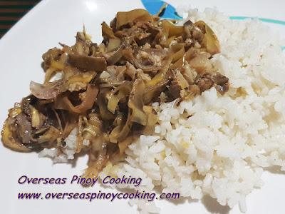 Adobong Puso ng Saging, Banana Blossom Adobo Rice