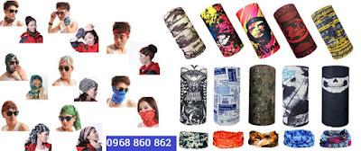 Tặng khăn đa năng khi mua găng tay chống nắng