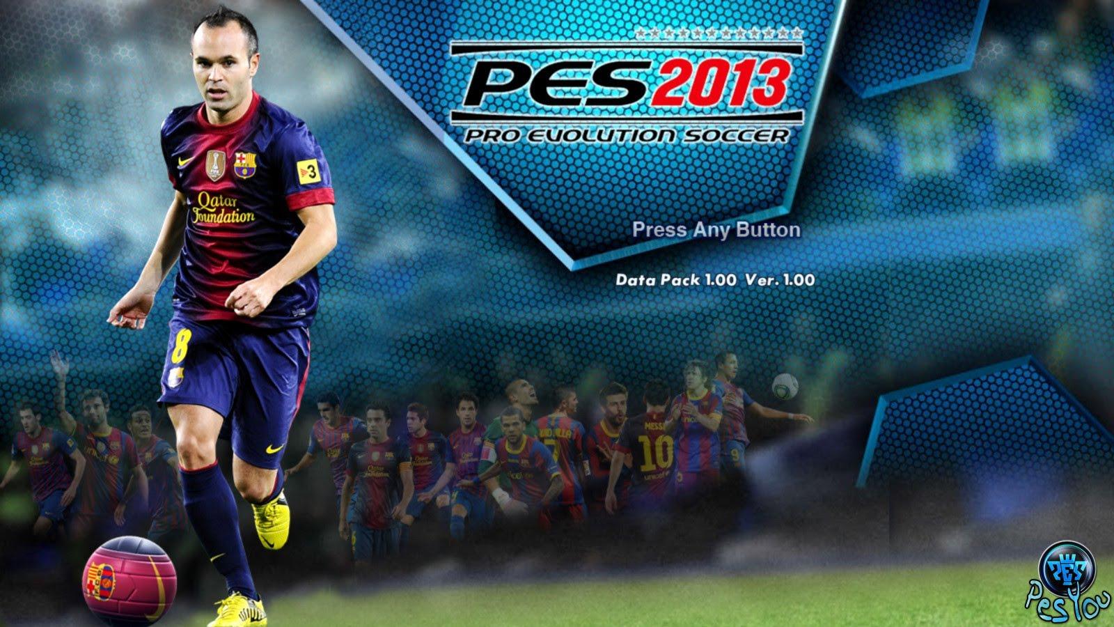 تحميل لعبة بيس 2013 كاملة للكمبيوتر مجانا برابط واحد Download PES 2013 من ميديا فاير