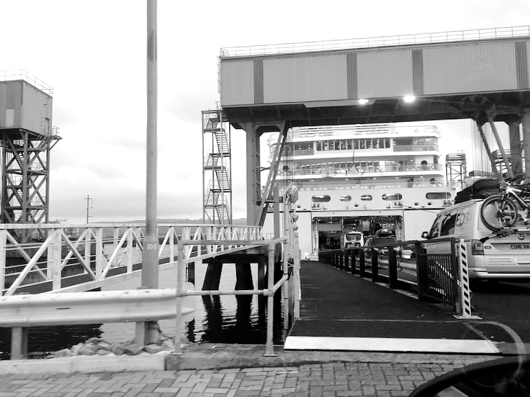 Driving onto the Brittany Ferries crossing from Plymouth to Roscoff