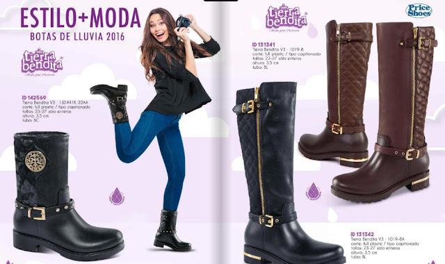damas botas de lluvia