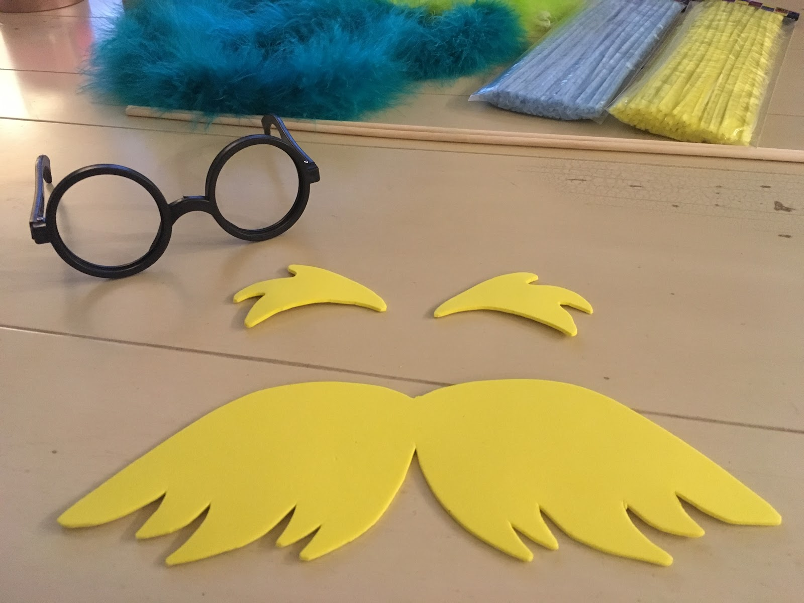 The lorax mustache template