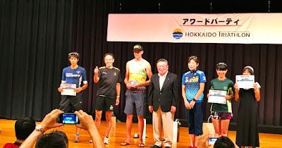 北海道トライアスロン表彰式