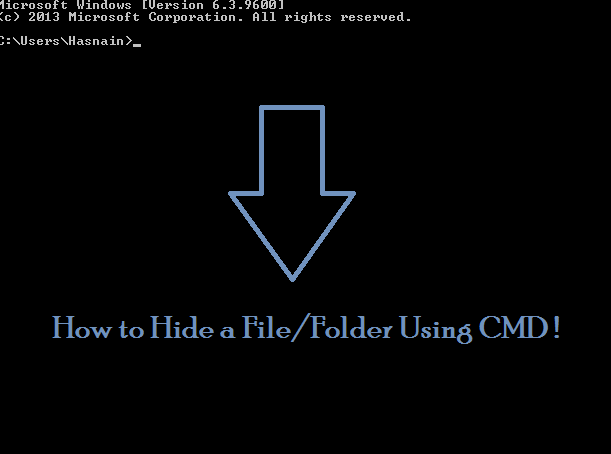 How to Hide File/Folder Using CMD Attrib Command