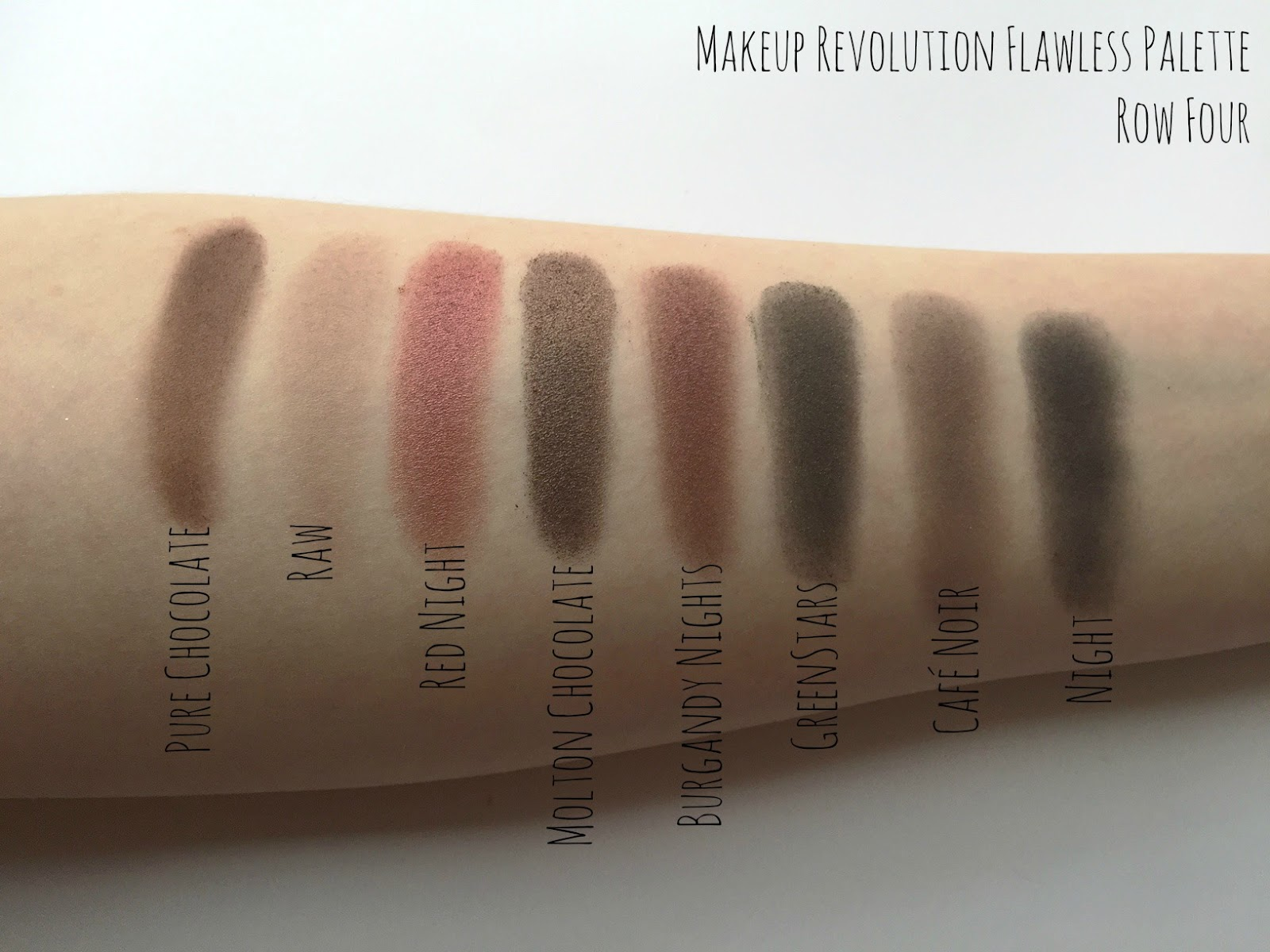 Makeup Revolution Flawless Palette Swatch & Review