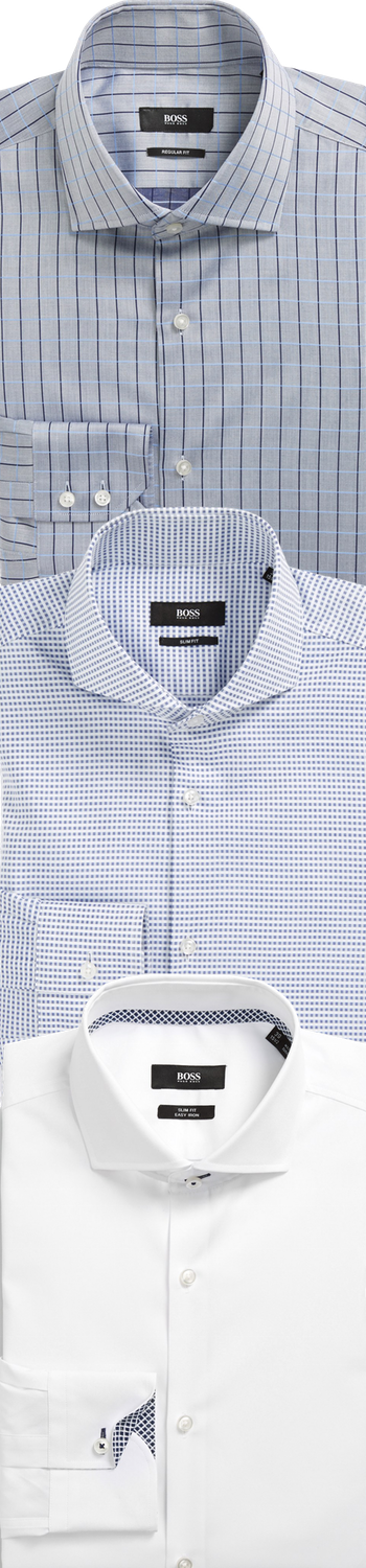 Assorted BOSS HUGO BOSS DRESS Men's Dress Shirts