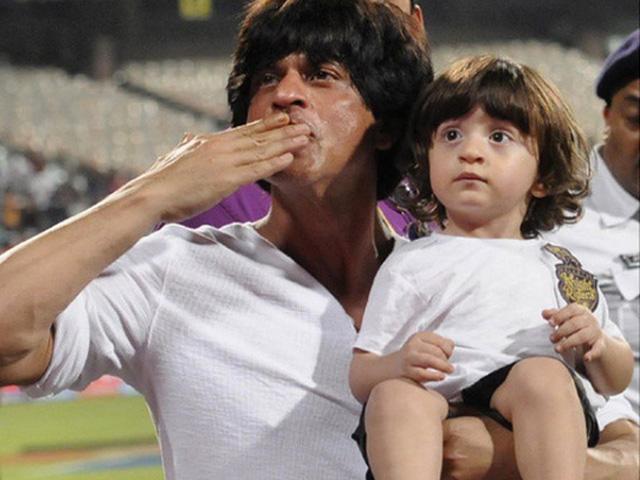 Shahrukh Khan with son AbRam Khan