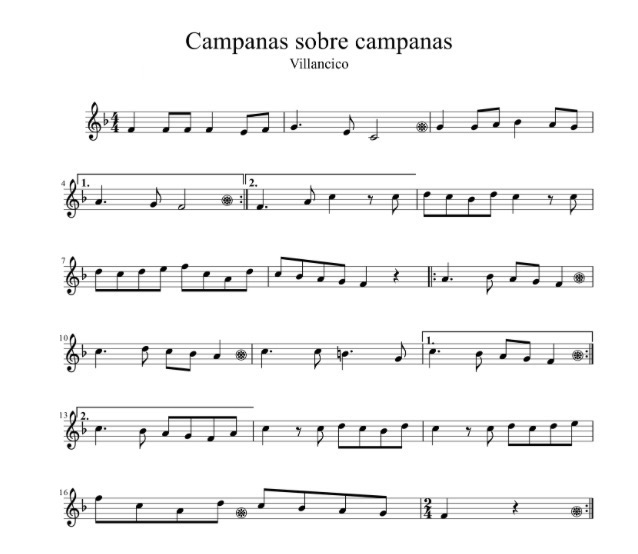 Partituras Para Trompeta Villancico Campana Sobre Campana Fácil