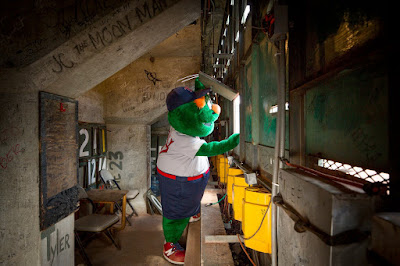 Wally the Green Monster keeps score!