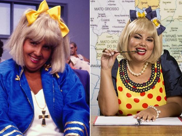 Fabiana Carla é Dona Cacilda, papel que foi de Cláudia Jimenez