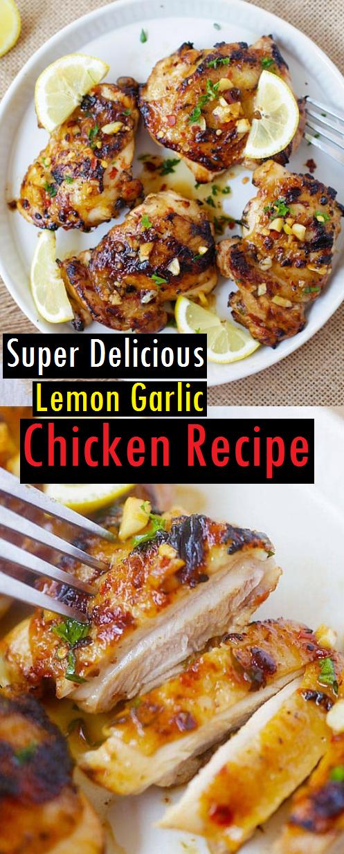 Super Delicious Lemon Garlic Chicken Recipe