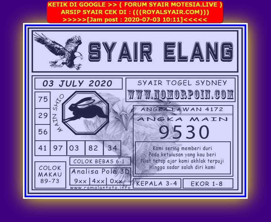 Kode syair Sydney Jumat 3 Juli 2020 88