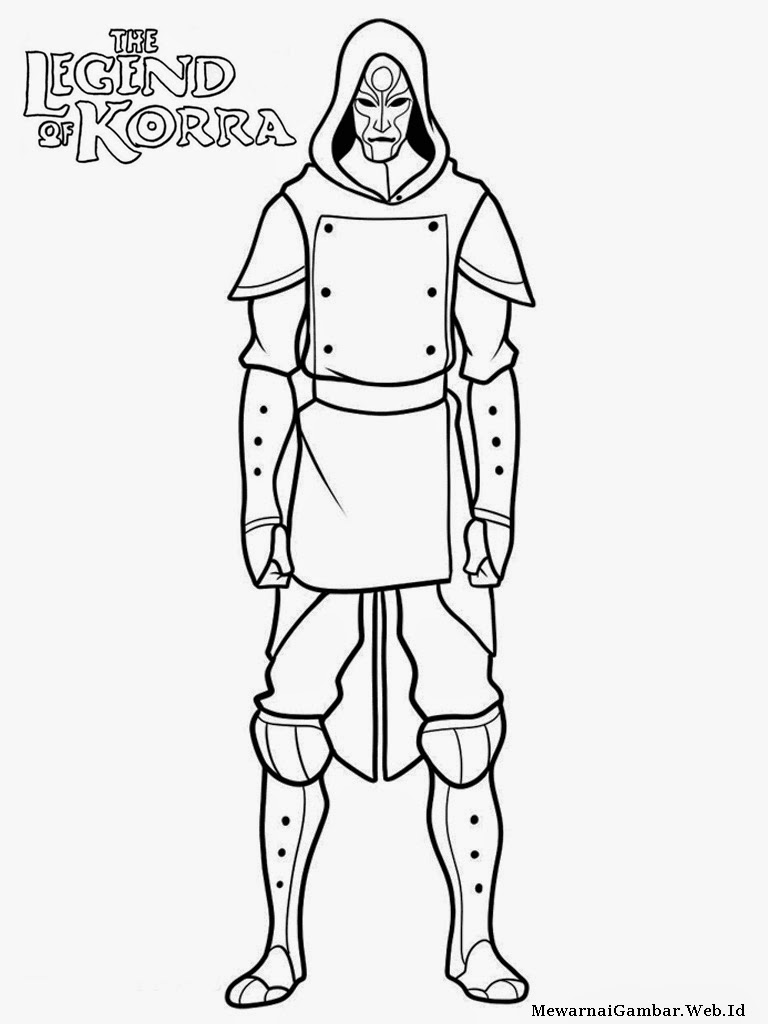 avatar the legend of korra coloring pages
